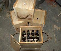 For all you DIY'ing bottle sharers. This is exponentially cooler than a cardboard box.