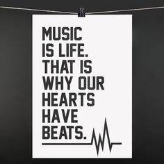 POSTER Music is life. That is why our hearts have beats: 9,90€