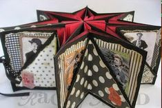 Awesome way to scrapbook -- chinese star pattern. Mini Albums, Mini Scrapbook Albums, Scrapbook Photos, Origami, Up Book, Book Art, Handmade Books, Handmade Gifts, Craft Organization
