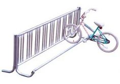 The J-Frame 5 ft. Commercial Bike Rack is available single-sided or double-sided that can hold from four to eight bikes for convenient storage.