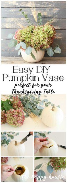 Fun Unique Craft Projects To Try Home Decor Vases, Fall Home Decor, Autumn Home, Diy Home Decor, Room Decor, Feuille Eucalyptus, L Eucalyptus, Pumpkin Vase, Diy Pumpkin