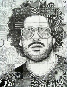 Studio Art I black history month portraits? Pen & Ink Doodle Portraits - Conway High School Art Project