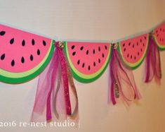 Watermelon sparkle party banner one in a melon birthday/birthday party/first birthday/party decoration/custom party banner/pink and green Baby Shower Watermelon, Watermelon Birthday Parties, Fruit Party, Watermelon Party Decorations, First Birthday Party Decorations, First Birthday Parties, First Birthdays, Birthday Ideas, Baby Birthday