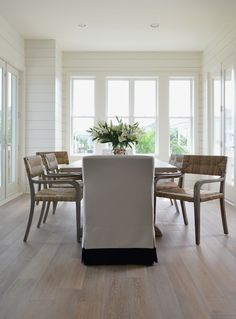snazzy dining chair slipcover styles   wide plank, plank and cote