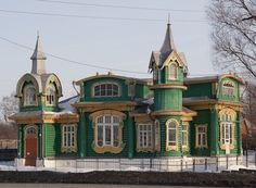 SHORIN'S HOUSE IN GOROHOVETS TOWN BUILT IN 1902. RUSSIAN ARCHITECTUTE. РУССКАЯ АРХИТЕКТУРА, ДОМ ШОРИНА, Г. ГОРОХОВЕЦ, ПОСТРОЕН В 1902 ГОДУ.