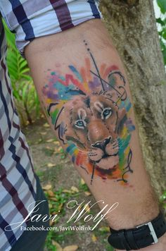 Watercolor + sketch Lion :) y estilo propio! AGENDA ABIERTA!! cotizaciones y citas en el DF sólo enwww.javiwolf.com/quiero-una-cita (tiempo de respuesta 2 a 3 semanitas)