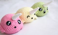 So cute & kawaii Ps i think it's a DIY! Baby Narwhal, Cute Narwhal, Kawaii Narwhal, Unicorns, Crochet Toys, Knit Crochet, Kawaii Shop, Spirit Animal, Fur Babies