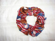 Baseball American flag patriotic fabric Hair by coloradocntry