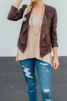 Light, rugged and faux-nomenal - we're in love with the washable faux suede jacket from LYSSE!