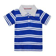 Sale 22% (5.99$) - 2015 New Little Maven Lovely Stripe Lapel Baby Children Boy Cotton Short Sleeve Top