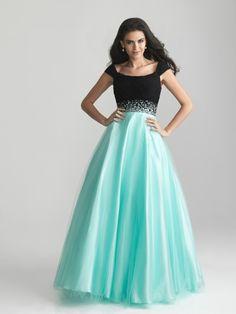 A-line Tulle Floor-length / Long Prom Dresses Evening Formal Dresses Cheap 202070