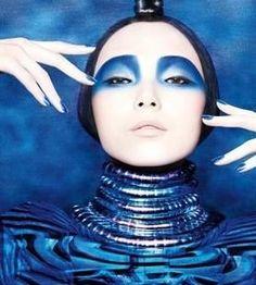 Sephora - Sephora Spring 2013 makeup artist Diane Kendal #makeup #blue