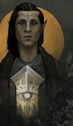 "creedofpirates: "" My inquisitor's character card. Screenshots of Y'arvo Lavellan: x x x x x x """