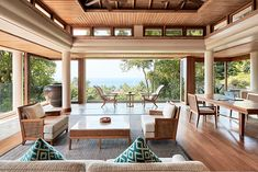 Spa Profile: JARA Spa at Trisara Resort — Spa and Beauty Today Living Room And Bedroom Combo, Spa Interior Design, Modern Tropical House, Resort Interior, Tropical Architecture, Interior Architecture, Hotel Meeting, Luxurious Bedrooms, Outdoor Furniture Sets