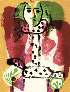 """Pablo Picasso - """"Woman in a chair I"""", 1948"""
