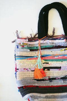 diy: rag rug bag   CAKIES   Bloglovin'