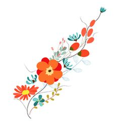 Background with flowers in retro style vector art - Download Retro vectors - 2254975