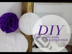 DIY: Honeycomb Pompoms Tutorial - YouTube