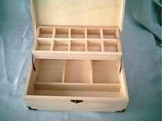 Items similar to Wooden double nostalgic jewelry box large storage wooden boxes, jewelry boxes, cosmetic boxes, gift boxes on Etsy Diy Wood Box, Wood Boxes, Wooden Diy, Diy Wood Projects, Wood Crafts, Jewelry Box Plans, Drawer Inserts, Blanket Chest, Sewing Box