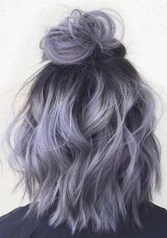 36 Gray Silver Ombre Hair Color Ideas for Attention-Grabbing Gals Hair-Nails Sty. - 36 Gray Silver Ombre Hair Color Ideas for Attention-Grabbing Gals Hair-Nails Style - Hair Dye Colors, Ombre Hair Color, Hair Color Balayage, Gray Ombre, Ash Ombre, Brown Balayage, Trendy Hair Colors, Ombre Hair Style, Hair Colour Grey
