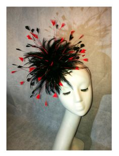 ReD and BlAck designed and made by Vandalised with Love, UK Headpiece, Bespoke, Halloween Face Makeup, Barn, Etsy Shop, Fantasy, Etsy Uk, Ascot, Gloves