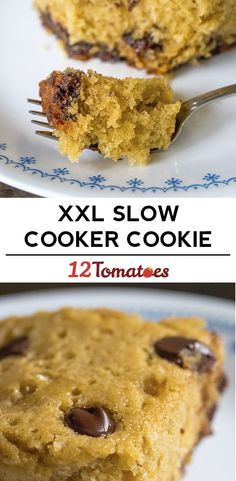 XXL Slow Cooker Chocolate Chip Cookie