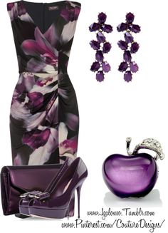 """Couture Chic Designs- Outfit"" by jgalonso on Polyvore. that dress.."