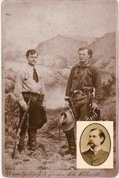 Luckily for Wyatt Earp (inset), Jack Stilwell didn't catch the lawman who murdered his brother Frank. Although there are no verified photos of Frank, the photo of Jack (left), a respected frontier scout, gives credence to the belief that Frank may not have been that bad.