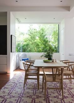 dining room with garden view