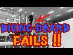 Diving Board Tricks FAILS - Slapstick-Style Fail Video - Diving Board Double Frontflip - Flip Fails - 42 jumps Preparing for Double Backflip - we meet up eve. Diving Board, Fail Video, Gopro, Fails, Broadway Shows, Boards, Neon Signs, Style, Planks