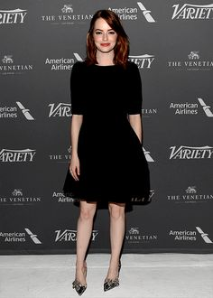 """Emma Stone at the taping of """"Variety Studio: Actors on Actors"""" on November 12, 2016."""