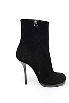 48763bd20fc8 BALENCIAGA Black 100% Suede Mid-calf Platform Stiletto Boots - WOW -  37.5 US7.5  Balenciaga  MidCalfBoots  Casual