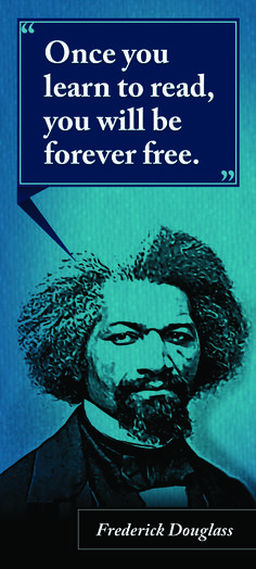 """Rita's Big Ass Bookmark """"Once you learn to read, you will be forever free. Frederick Douglass, Learn To Read, Oppression, Favorite Quotes, Literature, Learning, Big, Words, Free"""