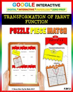 Google Interactive: Puzzle Match - Transformation of Parent Function (2 Levels)