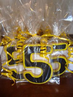 Sugar cookie party favors for 5th birthday