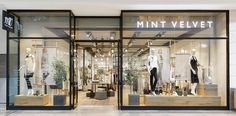 Mint Velvet opens first standalone mall store - Retail Design World Mall Design, Retail Store Design, Shop Front Design, Retail Shop, Retail Displays, Shop Displays, Retail Facade, Shop Facade, Retail Interior Design