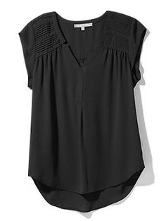 Daniel Rainn blouse in black...I need this! There is a serious shortage of black tops in my closet.