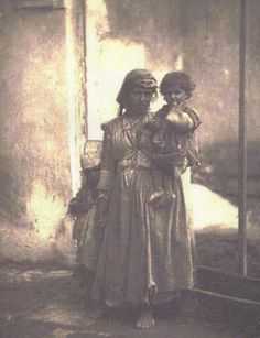 Mother and child, Cyprus 1878 Cyprus Island, Cyprus Greece, Old Greek, Photographs Of People, Travel Memories, Ancient Artifacts, Ancient Greece, History Facts, Greek Islands