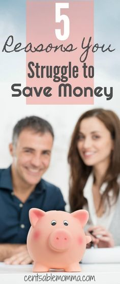 You want to have money in savings, but it just seems like there's never enough to put in savings at the end of the month!  Check out these 5 reasons why you struggle to save money {and what you can do about it}.