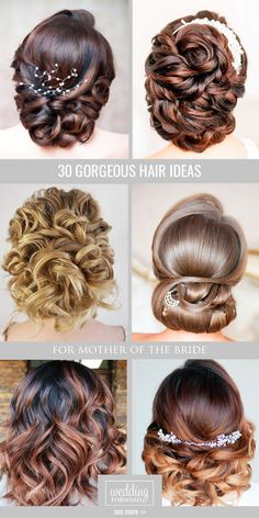 30 Mother Of The Bride Hairstyles ❤ We are offering some popular creative ideas with long, short and middle hair for mother of the bride hairstyles. See more: www.weddingforwar... #weddings #hairstyles