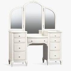 Teen Vanity, Vanity Desk, White Vanity, Vanity Chairs, Vanity Tables, Diy Vanity, Cream Furniture, Timber Furniture, Vintage Furniture