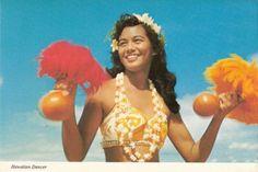 Vintage - Hawaiian dancer