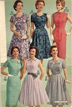 https://flic.kr/p/8p5xzV | montgomery ward summer 1959 catalog | all kinds of dresses (and gloves)
