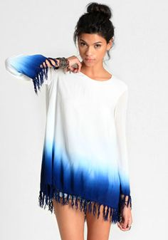 Water Trail Dip Dye Dress By Shown To Scale