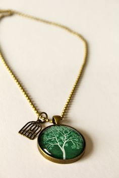 Ari Liv, Ari Liv Jewellery, jewelry, The Green Tree with Birdcage Necklace by Nest of Pambula available to buy online at Ari Liv http://www.ariliv.com.au/shop/necklaces/green-tree-birdcage-necklace/ Price: $49.95