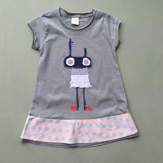 Kipy character  organic cotton  dress for girls  by KipyDesign