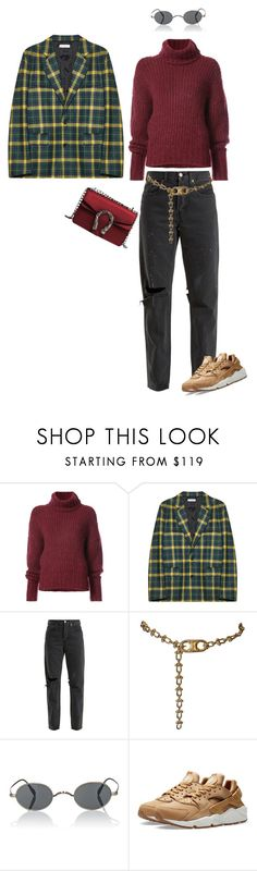 """""""Scotland"""" by ainitomlinson on Polyvore featuring moda, BY. Bonnie Young, Gosha Rubchinskiy, RE/DONE, CÉLINE, Oliver Peoples y NIKE"""