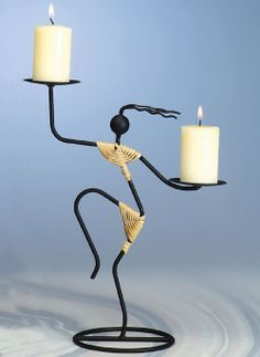 Candle holders/Candle stands made of different materials like brass/Aluminium/Stainless stell etc Metal Art Projects, Metal Crafts, Wrought Iron Candle Holders, Steel Art, Iron Furniture, Scrap Metal Art, Iron Art, Welding Art, Iron Decor