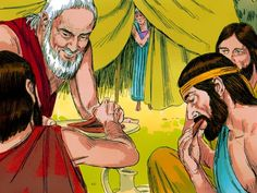 Free Bible illustrations at Free Bible images of Abraham entertaining three strangers and pleading with the Lord over the impending destruction of Sodom and Gomorrah. Genesis 18, Genesis Bible, Free Stories, Bible Stories, Free Bible Images, Sodom And Gomorrah, Bible Study For Kids, Kids Bible, Bible Illustrations