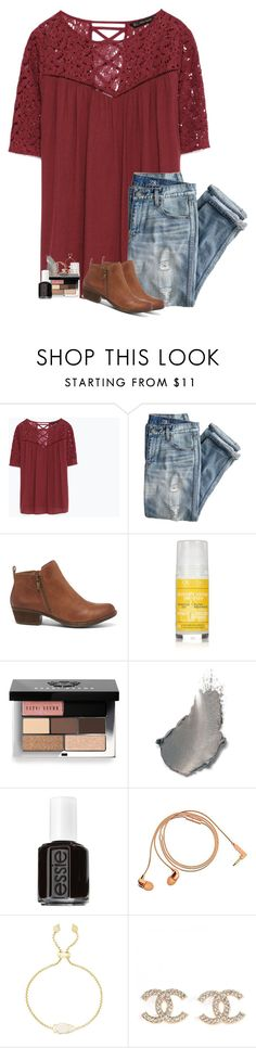 """his eyes could make the moon jealous"" by hailstails ❤ liked on Polyvore featuring Zara, J.Crew, Lucky Brand, L'Occitane, Bobbi Brown Cosmetics, Essie, Happy Plugs and Kendra Scott"